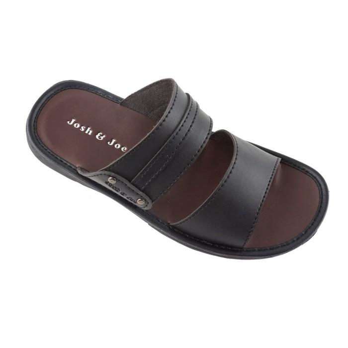 harga [flash sale] josh&joe sandal kulit pria casual - trbr - maroon 39 Tokopedia.com