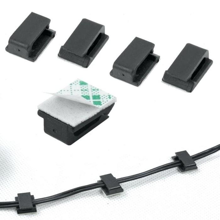 Foto Produk Klip Perapih Pengikat Penjepit Kabel Mobil Listrik USB PC Organizer dari lbagstore