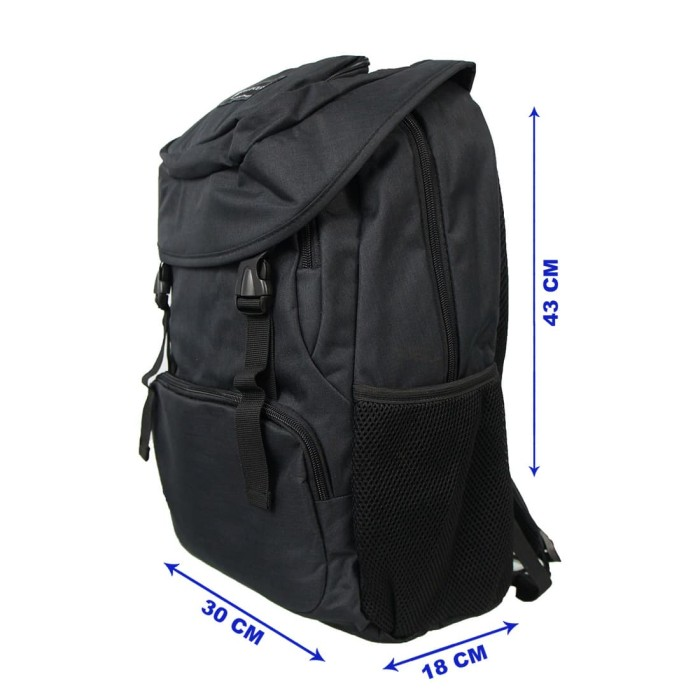 Jual Tas Ransel Polo Classic Backpack 9036-06 Black - TRAKSHOP ... ab68572ca958f