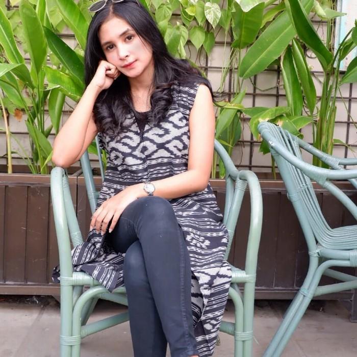 harga Baju tenun blazer etnik batik long vest cardigan Tokopedia.com