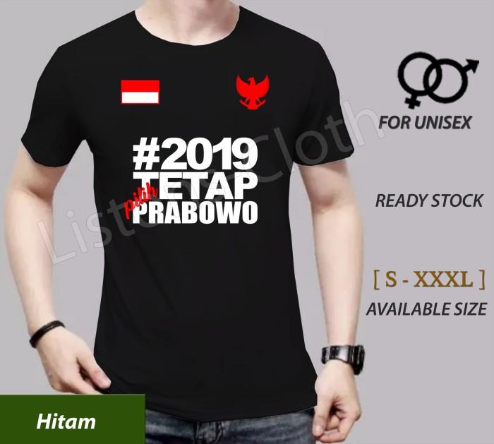 Kaos 2019 ganti presiden baju prabowo