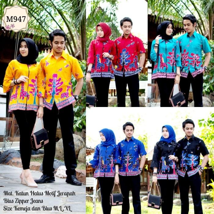 harga Sarimbit batik couple modern / sarimbit batik couple blus zipper m947 Tokopedia.com