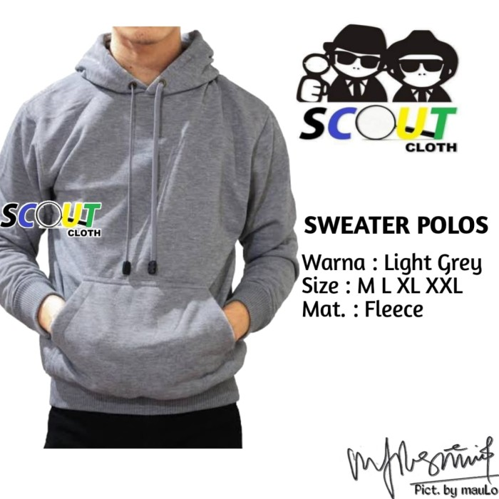 Jaket sweater polos hoodie jumper hoodie polos jaket distro sixe xxl