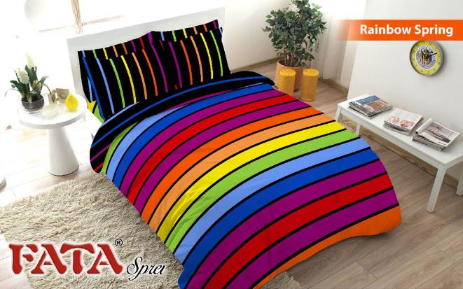 harga Sprei fata minimalis rainbow spring uk.120 Tokopedia.com