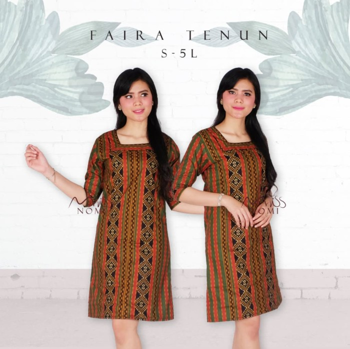 Jual Dress Tenun Jepara Etnik Dress Batik Wanita Modern Dress
