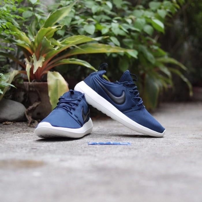 1aa612572801 Jual Sepatu Running Nike Roshe Two Navy White Premium Murah Grosir ...