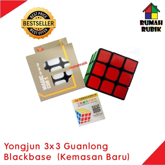 Foto Produk Rubik Yongjun 3x3 / Rubik 3x3 / Rubik Murah / Rubik Guanlong - Hitam dari Rumah Rubik