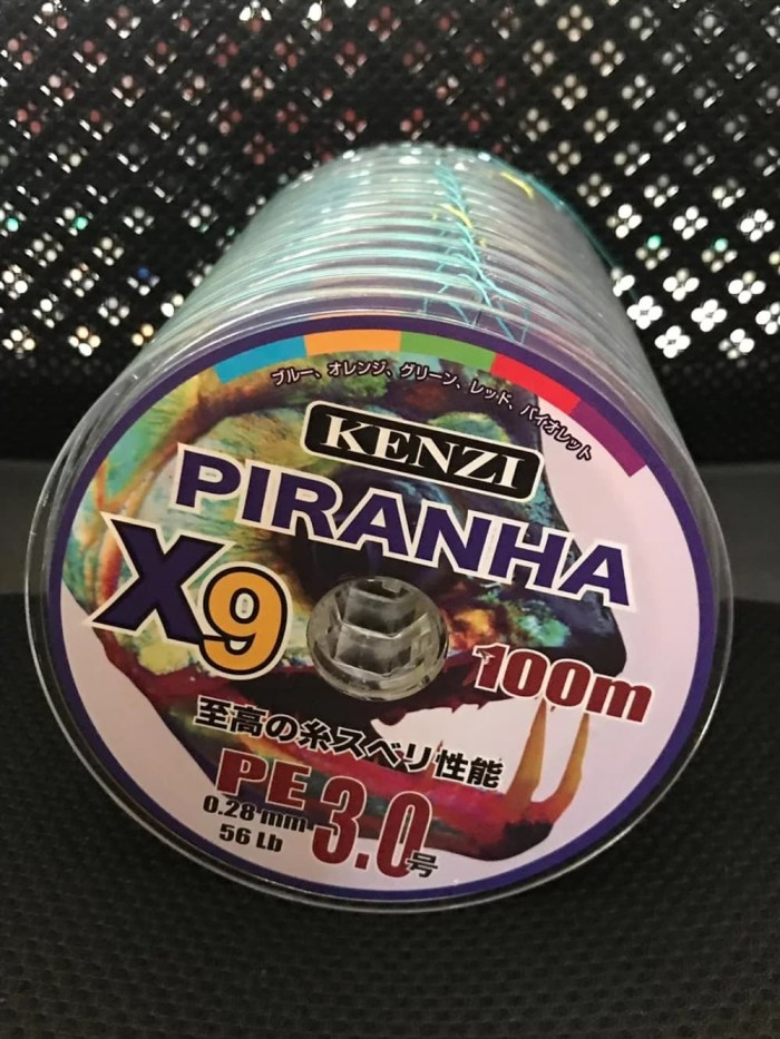 harga Senar pe x9 kenzi piranha pe 3 0.28 mm 56 lb multicolour connecting Tokopedia.com