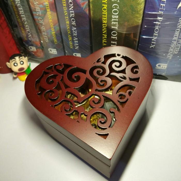 harga Kotak musik kayu unik bentuk hati / heart wooden music box vintage Tokopedia.com