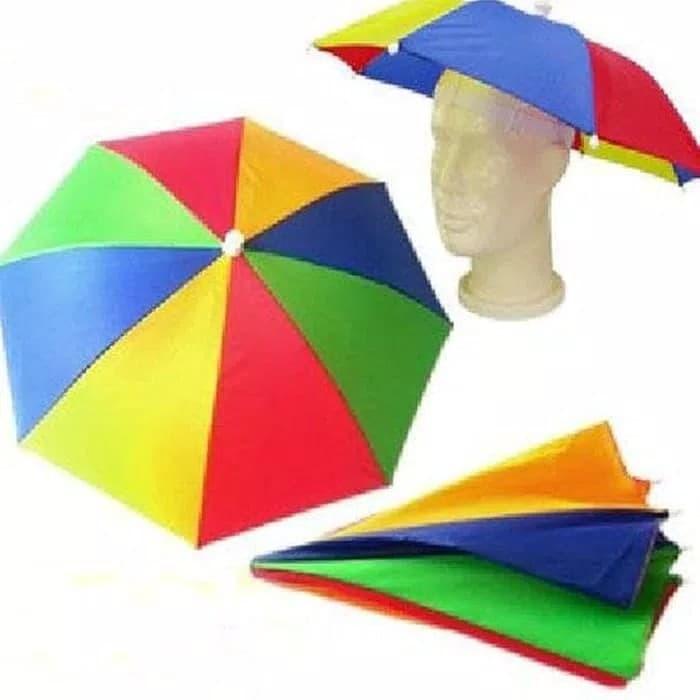 harga Topi payung headband umbrella sun shade - multi-color payung topi Tokopedia.com