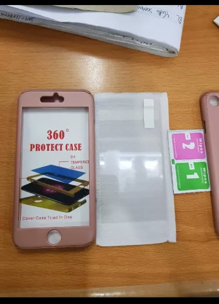 CASE IPAKY 360 FULL BODY COVER ORIGINAL HARDCASE FOR IPHONE 7 PLUS