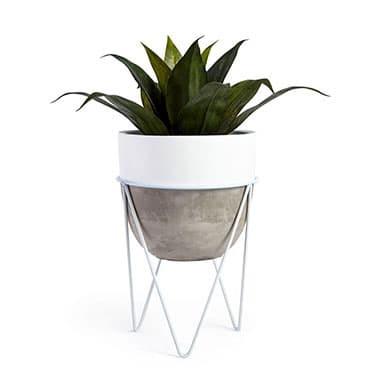 Rak Pot Bunga dari Besi pot bunga unik pot bunga minimalis