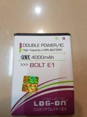 ... BATERAI LOG ON BOLT ZTE E1 BLADE Q LUX DOUBLE POWER IC BATTERY BATRE