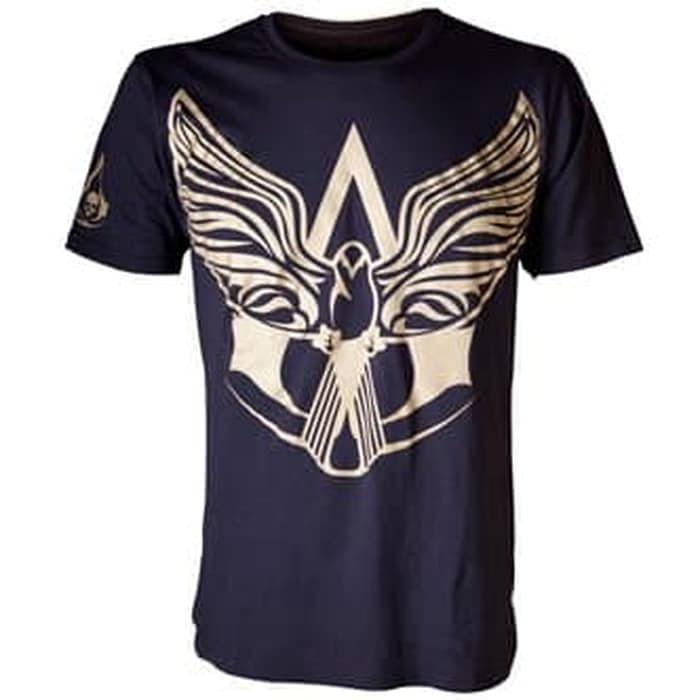 Jual Bioworld T Shirt Assassin S Creed Iv Black Flag Gold Symbol