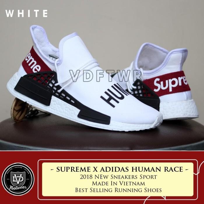 innovative design 3395a a3591 Jual FOOTWEAR SHOP SEPATU ADIDAS NMD HUMAN RACE SUPREME BOOST BLACK RUNNER  - Kota Bandung - FREDELLA 99   Tokopedia