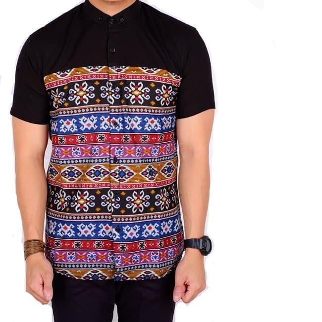 Jual Kemeja Pria Lengan Pendek Baju Batik Pria Kombinasi Limited 17f35eff15