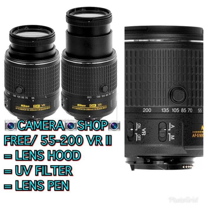Terupdate Lensa Nikon Af-S 55-200Mm Vr Ii F/4-5 6G Ed (Free:Uv Filter)