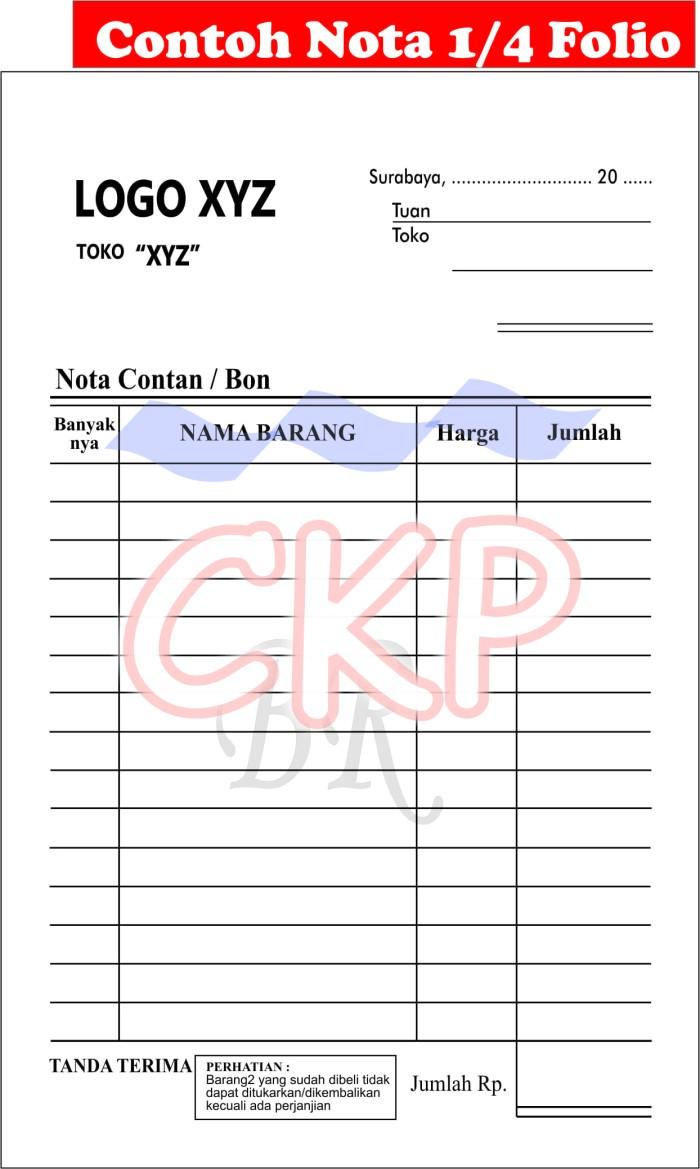 Jual Cetak Nota Atau Bon 4 Rangkap Ply Carbonless Kota Surabaya Ckp Online Store Tokopedia