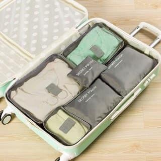 [Kuli Online] Bag in Bag 6in1 set storage laundry pouch tas koper trav