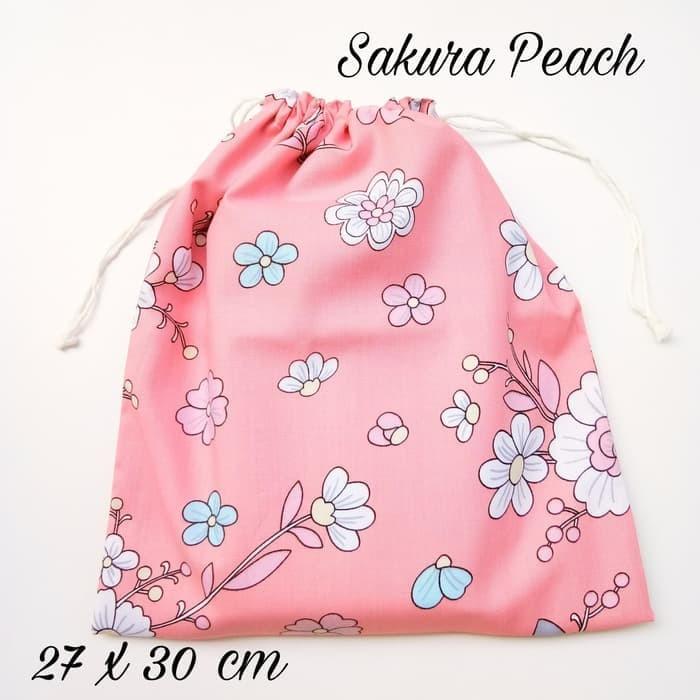 Drawstring Bag tas kantong serut diaper pouch travel organizer 6
