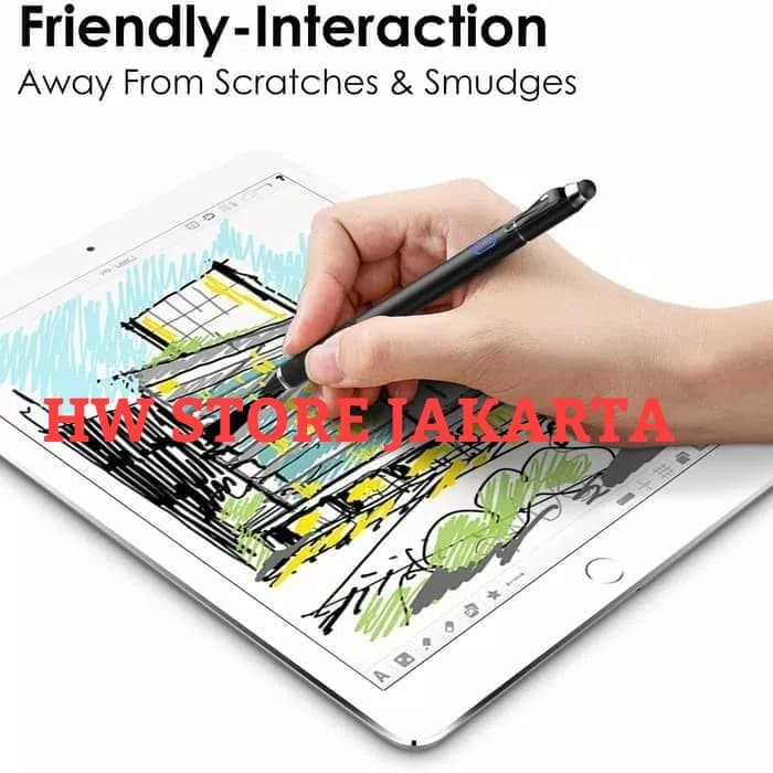 harga Moko active stylus pen 2-in-1 high sensitivity precision point 1.5 mm Tokopedia.com