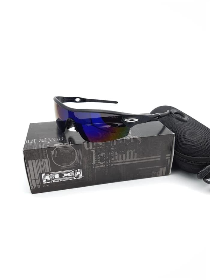 ( GROSIRAN ) Kacamata Radar OA 3004 Black Blue Kacamata Polarised 3d2dd767cd