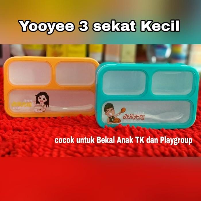 [small] yooyee kotak makan bekal / lunch box leakproof / anti bocor