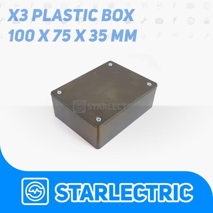 Foto Produk Box Hitam X3 Kotak Plastik Casing Komponen X-3 dari Starlectric