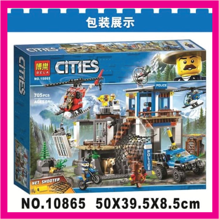 Jual Lego City Mountain Police Headquarters Merk Bela 10865 Kota