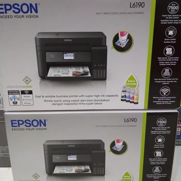 Jual PRINTER EPSON L6190 (pengganti L655) Print, Scan, Copy, Fax, Wifi -  DKI Jakarta - MANDIRI INDO TECHNOLOGY | Tokopedia