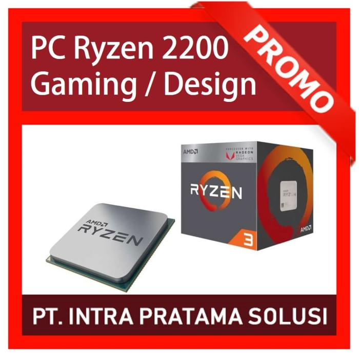 harga Pc gaming bronze - amd ryzen 2200g + ram 8gb ddr4 + hdd 1tb + vulcan Tokopedia.com