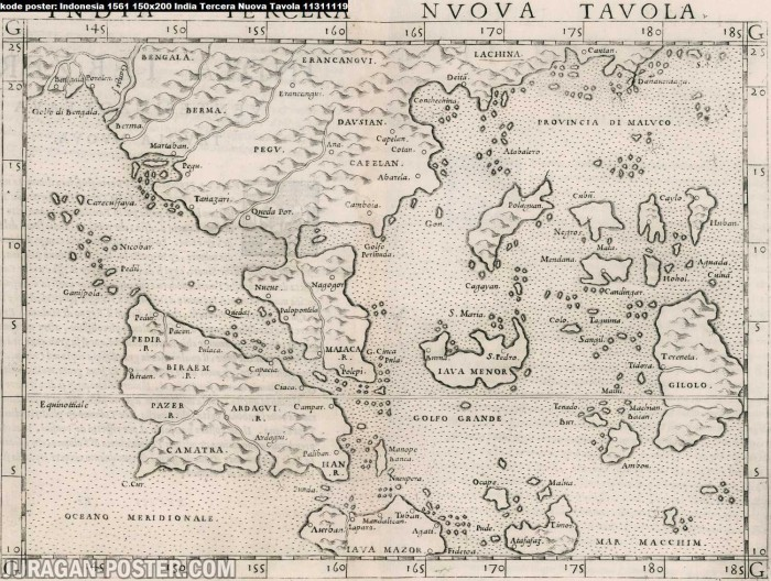 Jual Peta Kuno Indonesia Jaman Dulu Tahun 1561 Ukuran 125x170 Bahan Pet 1 Kab Majalengka Juragan Poster Murah Tokopedia