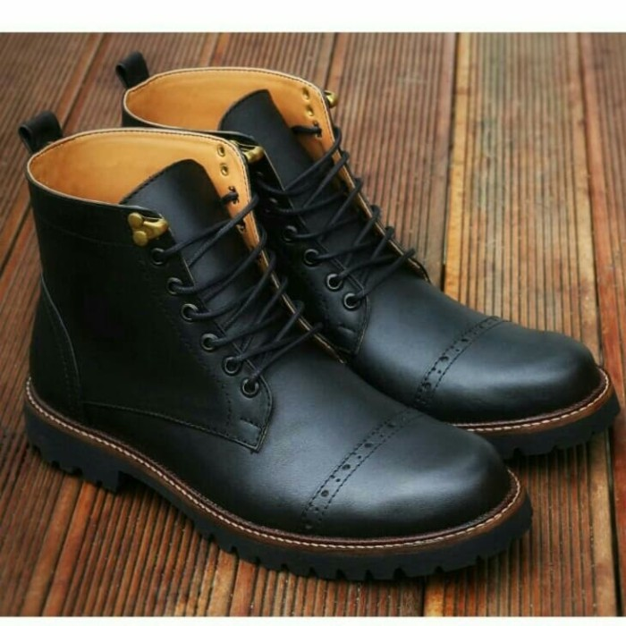 arpegio - Sepatu boots kulit asli safety casual original terbaru pria 06d50ade91