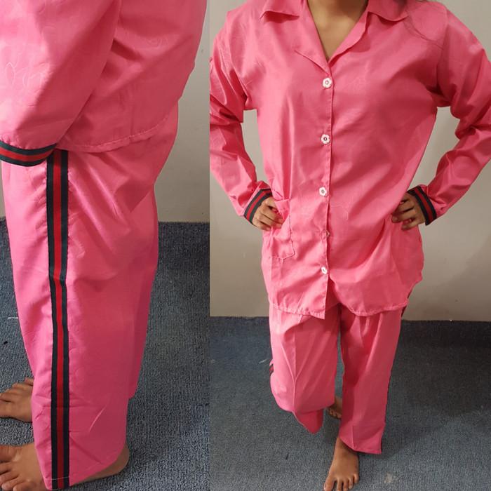 Jual Baju Tidur Wanita Dewasa Polos Bahan Embos Pajamas Merah Maroon Kota Semarang Dimdim Grosir Tokopedia