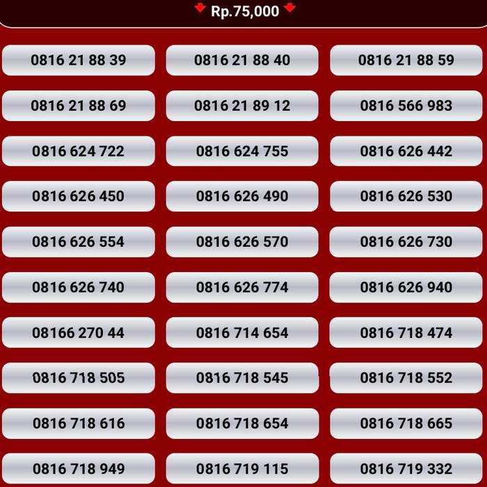 harga Kartu perdana im3 nomor cantik indosat nocan 10 digit 0816 4g mentari Tokopedia.com