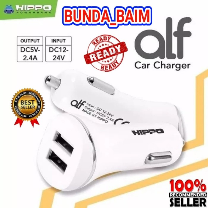 harga Car charger hippo alf sp2a simple pack 2 usb / charger mobil aki motor Tokopedia.com