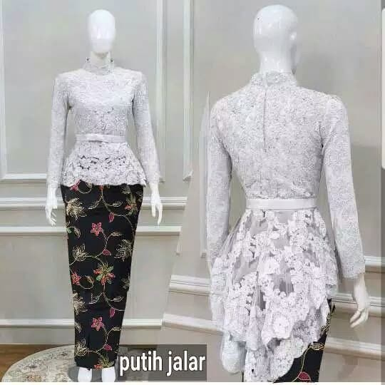 Jual Set Kebaya Wisuda Putih White Elegan Baju Muslim Modern Pesta Resepsi Jakarta Utara Fika Olshop Store Tokopedia