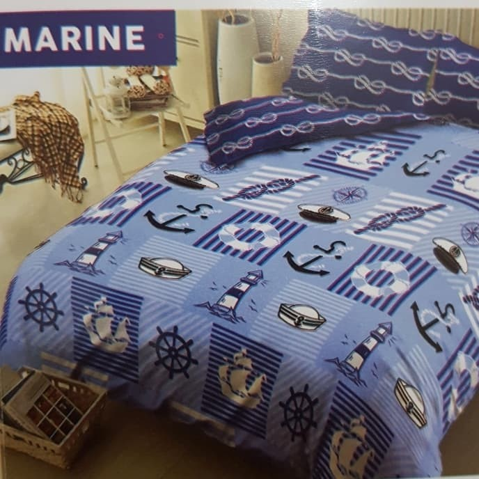 sprei kintakun dluxe sprei king motif Marine 180 x 200