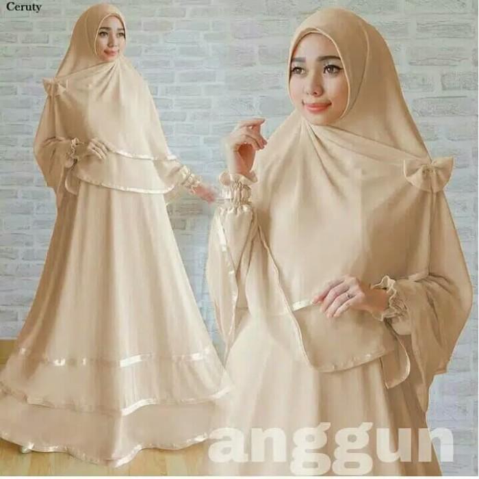 Jual Gamis Anggun Syari Gamis Putih Polos Baju Gamis Wanita