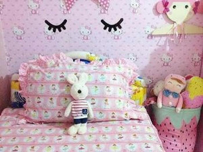 Jual Wallpaper Dinding Hello Kitty Pink Kota Administrasi Jakarta