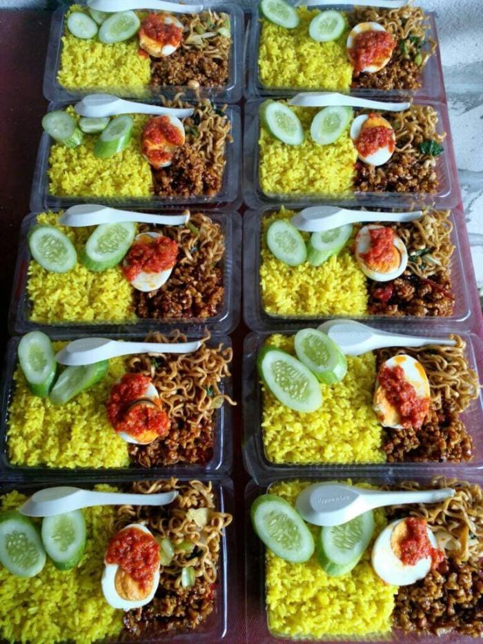 Jual Nasi Bento Paket Nasi Kuning Merakyat Dki Jakarta Raja Nasi Bento Tokopedia