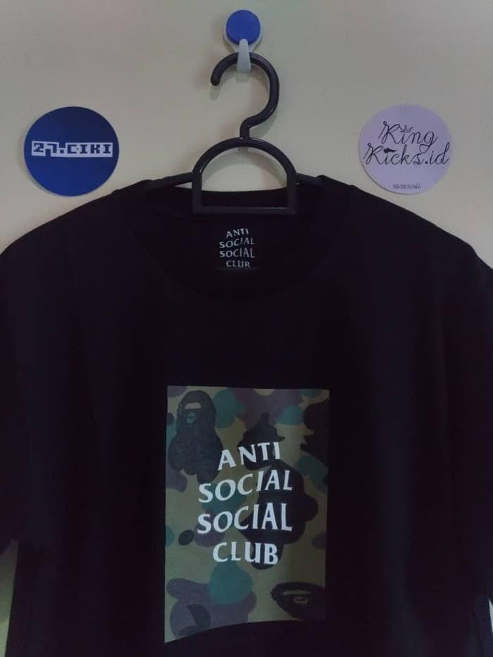 1975e242131e Jual KAOS   T SHIRT   TEE ANTI SOCIAL SOCIAL CLUB ASSC X BAPE BLACK ...
