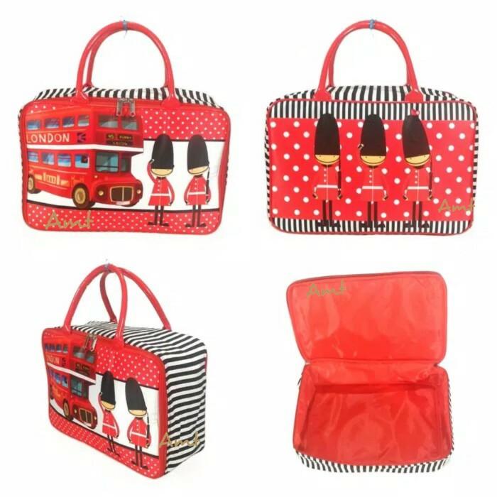 Tas Travel Bag Koper Piknik Kanvas Renang Anak Dewasa London Prajurit