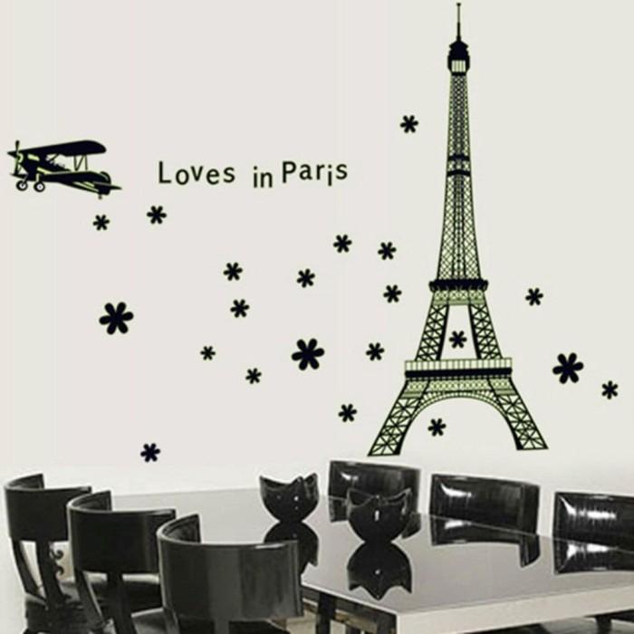 Wallpaper Dinding Kamar Gambar Menara Eiffel  jual stiker dinding dengan bahan pvc dan gambar menara eiffel paris jakarta barat gn shop 1 tokopedia