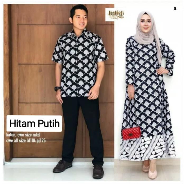 Baju Couple Batik Pesta: Jual Baju Couple Batik Hitam Putih / Baju Pesta Batik