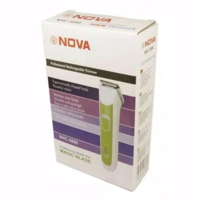 alat cukur rambut tanpa kabel nova NHC 3915 - alat cukur rambut batere f2af90df36