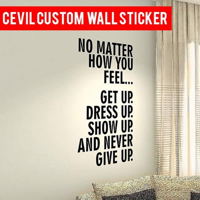 jual stiker dinding custom / wall sticker custom nama / tulsian