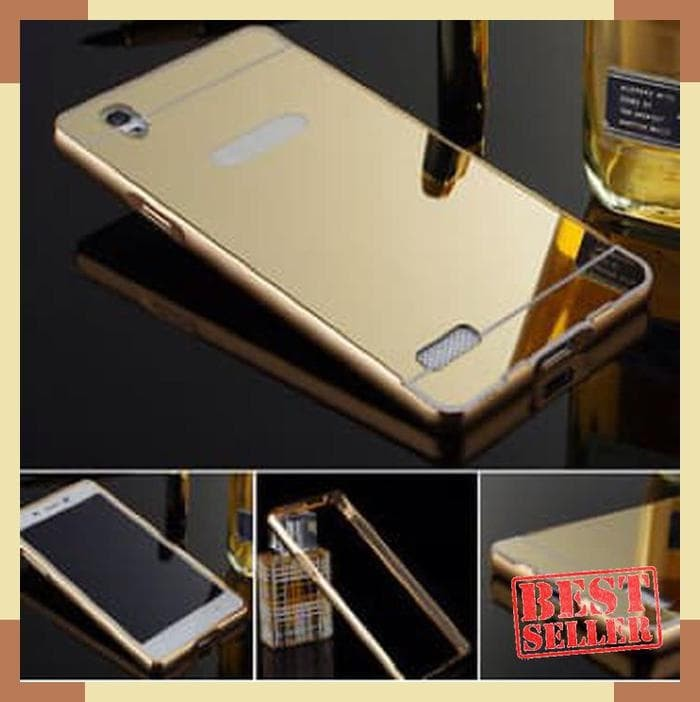 NEW Mirror Case Vivo V3 Max 5.5&amp-quot- Bumper Casing Slide Mirror