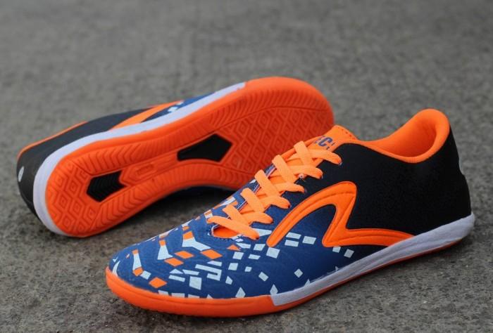 Jual Sepatu Futsal Specs Vertecs Dewasa Hitam List Orange Kota