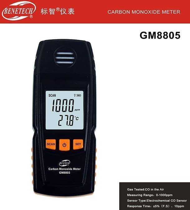 Hasil gambar untuk Carbon Monoxide Meter Benetech GM8805
